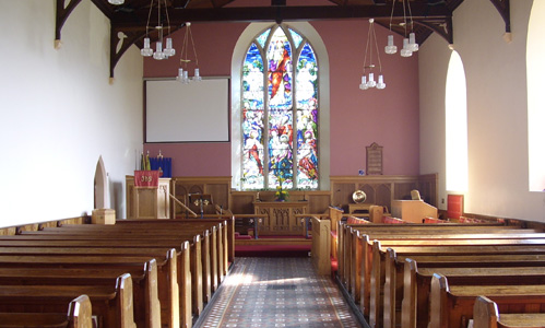 Inside Bovevagh Church